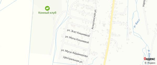 8-я Шалинская улица на карте Шали с номерами домов