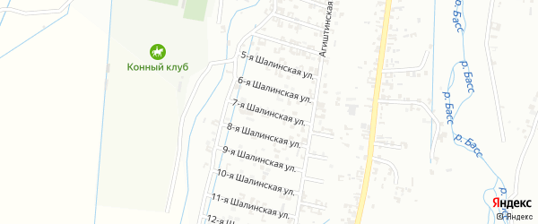 7-я Шалинская улица на карте Шали с номерами домов
