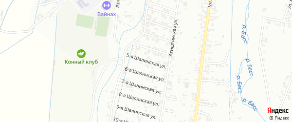 5-я Шалинская улица на карте Шали с номерами домов