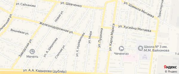 Улица Мира на карте Аргуна с номерами домов
