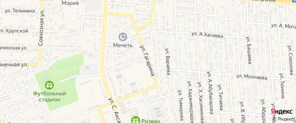 Переулок 2-й Ю.Гагарина на карте Аргуна с номерами домов