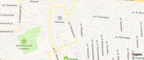 Улица Гагарина на карте села Мескер-Юрт с номерами домов