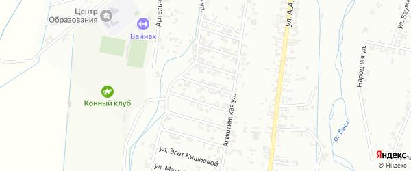 4-я Шалинская улица на карте Шали с номерами домов