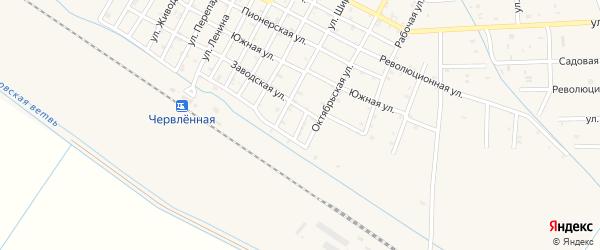 Тихий переулок на карте Червленной станицы с номерами домов