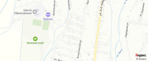 3-я Шалинская улица на карте Шали с номерами домов