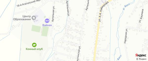 2-я Шалинская улица на карте Шали с номерами домов