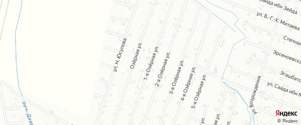 1-я Озерная улица на карте Шали с номерами домов