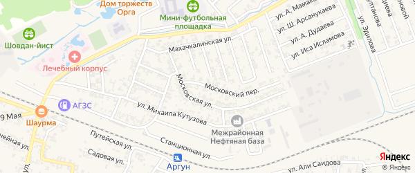 Чернореченская улица на карте Аргуна с номерами домов
