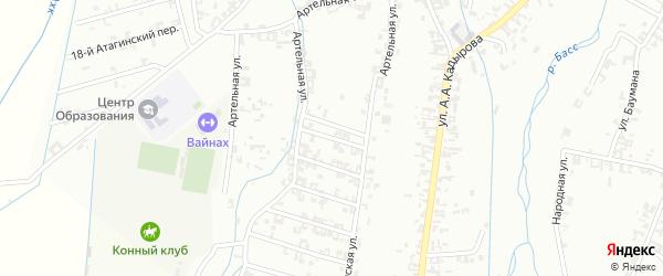 1-я Шалинская улица на карте Шали с номерами домов