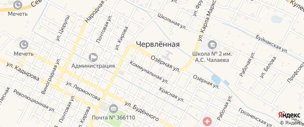 Улица Ленина на карте Червленной станицы с номерами домов