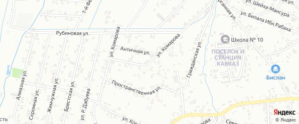 Абонентский ящик Комарова на карте Шали с номерами домов