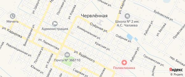 Улица Фрунзе на карте Червленной станицы с номерами домов
