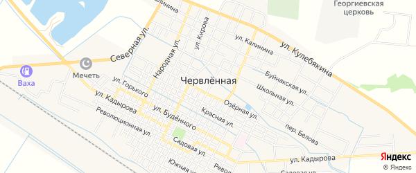 Карта Червленной станицы в Чечне с улицами и номерами домов