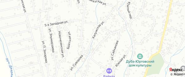 Калужская улица на карте Шали с номерами домов