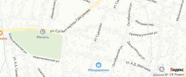 Северная улица на карте Шали с номерами домов