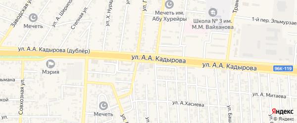 Гудермесская улица на карте Аргуна с номерами домов