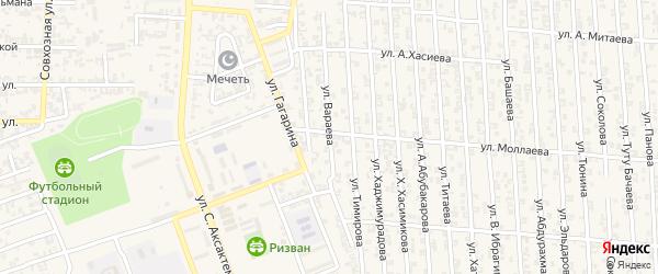 Улица М.Висаитова на карте Аргуна с номерами домов