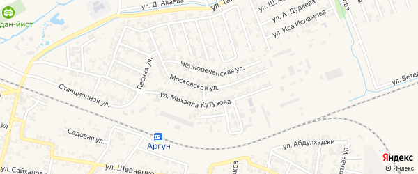 Московская улица на карте Аргуна с номерами домов
