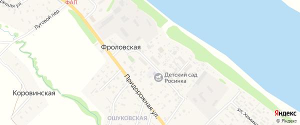 Улица Дружбы на карте Фроловской деревни с номерами домов