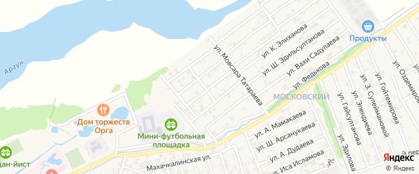 Переулок 2-й М.Ахмадова на карте Аргуна с номерами домов