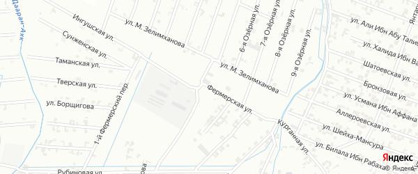 Фермерская улица на карте Шали с номерами домов