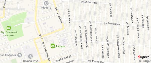 Улица А.Вараева на карте Аргуна с номерами домов