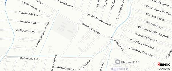 2-й Фермерский переулок на карте Шали с номерами домов