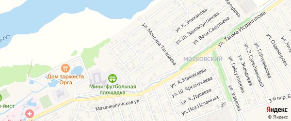 Переулок 1-й М.Ахмадова на карте Аргуна с номерами домов