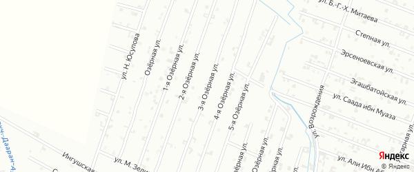 3-я Озерная улица на карте Шали с номерами домов