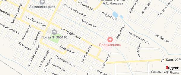 Улица Горького на карте Червленной станицы с номерами домов