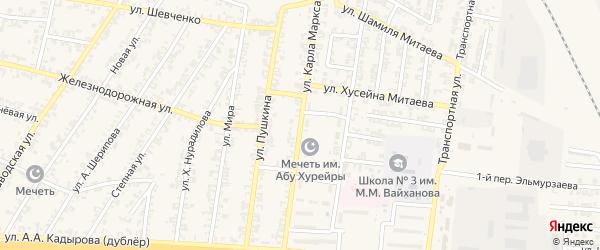 Улица К.Маркса на карте Аргуна с номерами домов