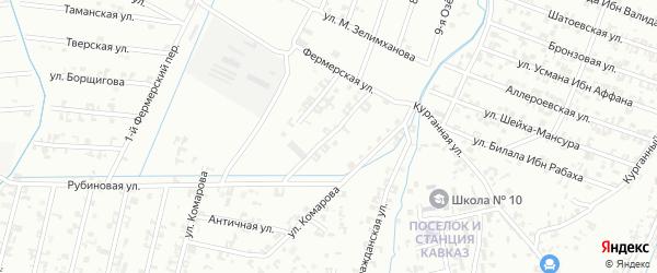 Улица 3-й Фермерский на карте Шали с номерами домов