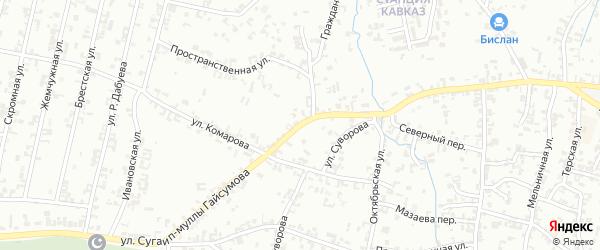 Ивановская улица на карте Шали с номерами домов