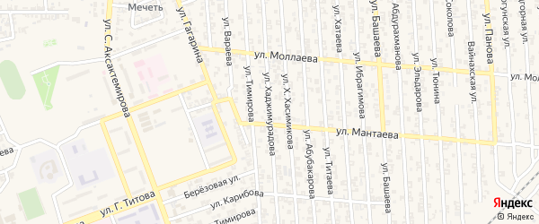Улица А.Тимирова на карте Аргуна с номерами домов