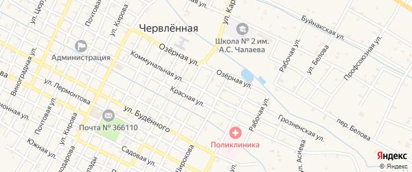 Свободная улица на карте Червленной станицы с номерами домов
