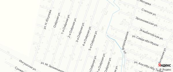 4-я Озерная улица на карте Шали с номерами домов