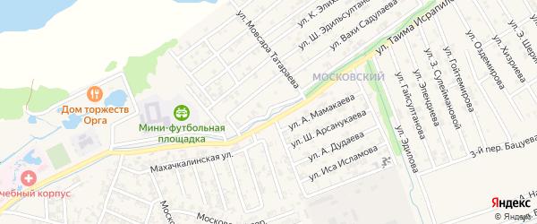 Улица Р.Тулаева на карте Аргуна с номерами домов