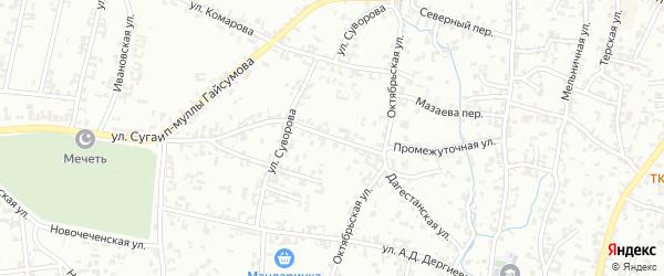 Промежуточная улица на карте Шали с номерами домов