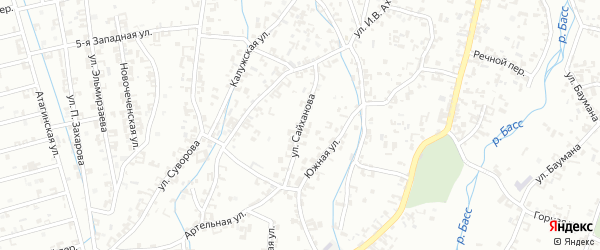 Улица Сайханова на карте Шали с номерами домов