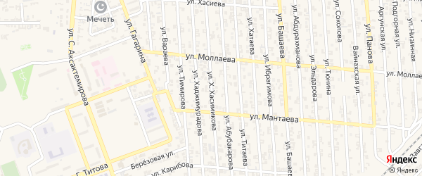 Улица А.Хаджимурадова на карте Аргуна с номерами домов