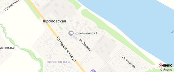 Березовый переулок на карте Фроловской деревни с номерами домов