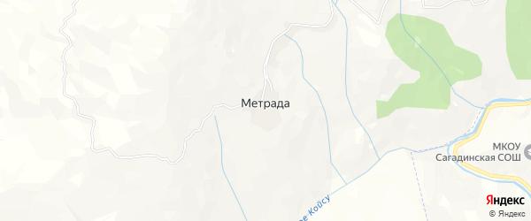 Карта села Метрады в Дагестане с улицами и номерами домов