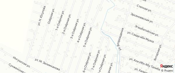 5-я Озерная улица на карте Шали с номерами домов