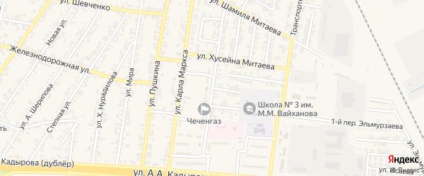 Переулок В.Комарова на карте Аргуна с номерами домов
