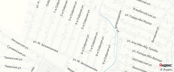 6-я Озерная улица на карте Шали с номерами домов