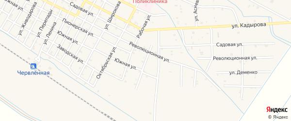 Улица Белова на карте Червленной станицы с номерами домов