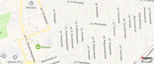 Улица А.Абубакарова на карте Аргуна с номерами домов