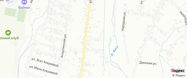 Улица 4-й А.Кадырова на карте Шали с номерами домов