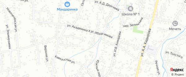Переулок Советская на карте Шали с номерами домов