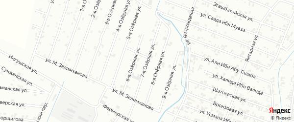 7-я Озерная улица на карте Шали с номерами домов
